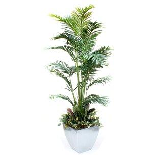 faux greenery in pot | wayfair Artificial Greenery in Pots