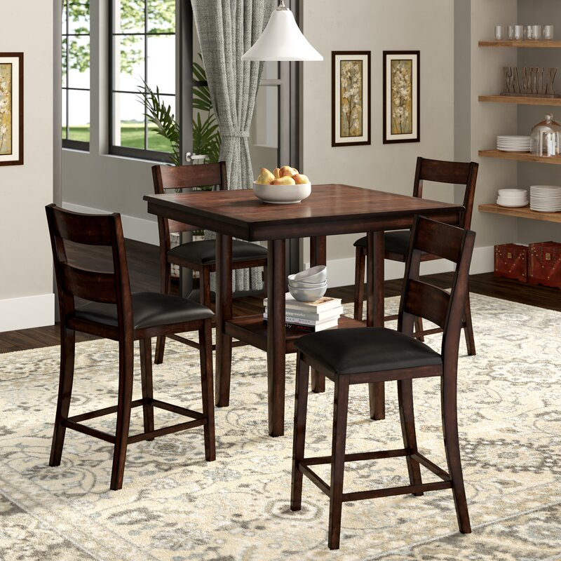 Take A Bite Out Of 24 Modern Dining Rooms: Birch Lane™ Thibault 5-Piece Counter-Height Dining Set