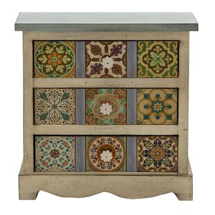3 Drawer Canvas Table Chest