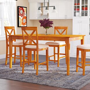 Arpana 5 Piece Counter Height Solid Wood Dining Set