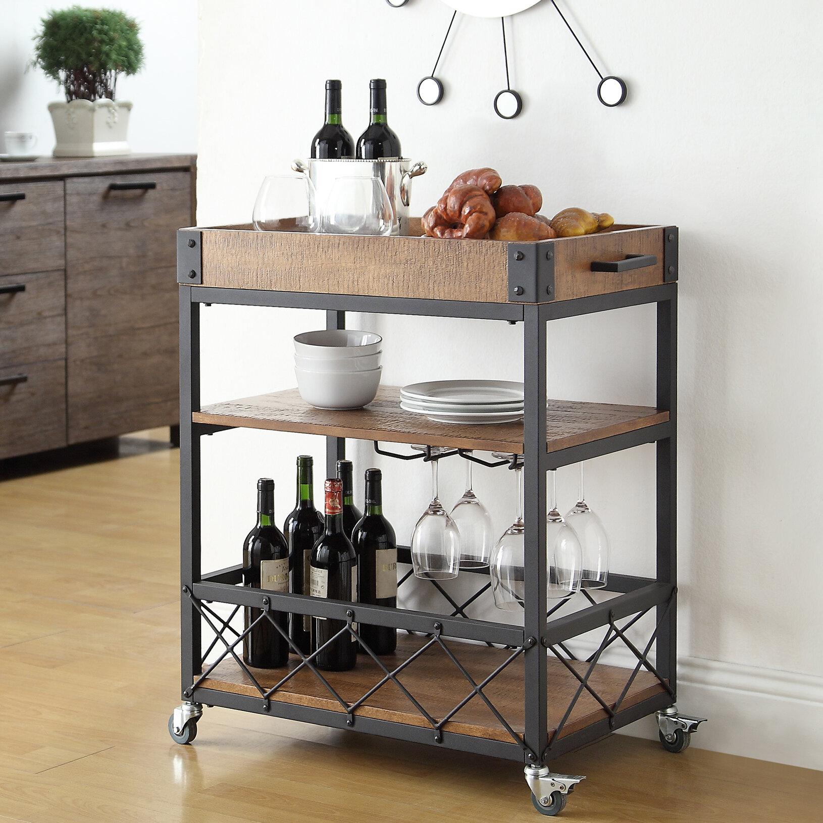 Mercury Row Zona Kitchen Cart & Reviews | Wayfair