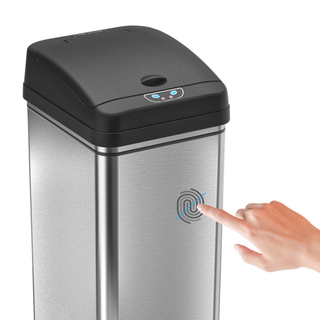 Wildon Home ® Stainless Steel 13 Gallon Motion Sensor ...