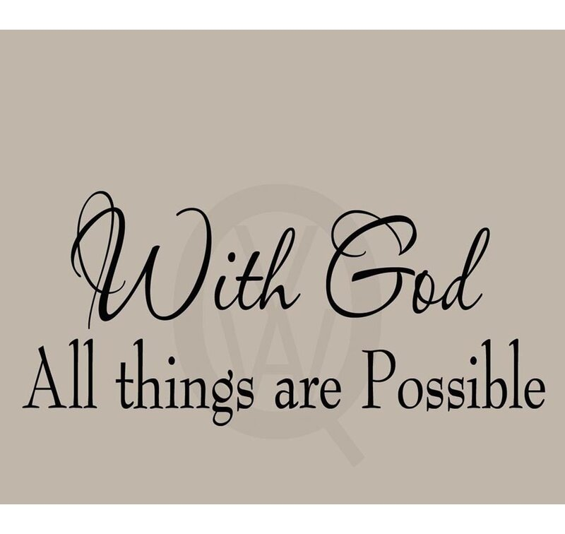 vwaq with god all things are possible bible wall decal & reviews