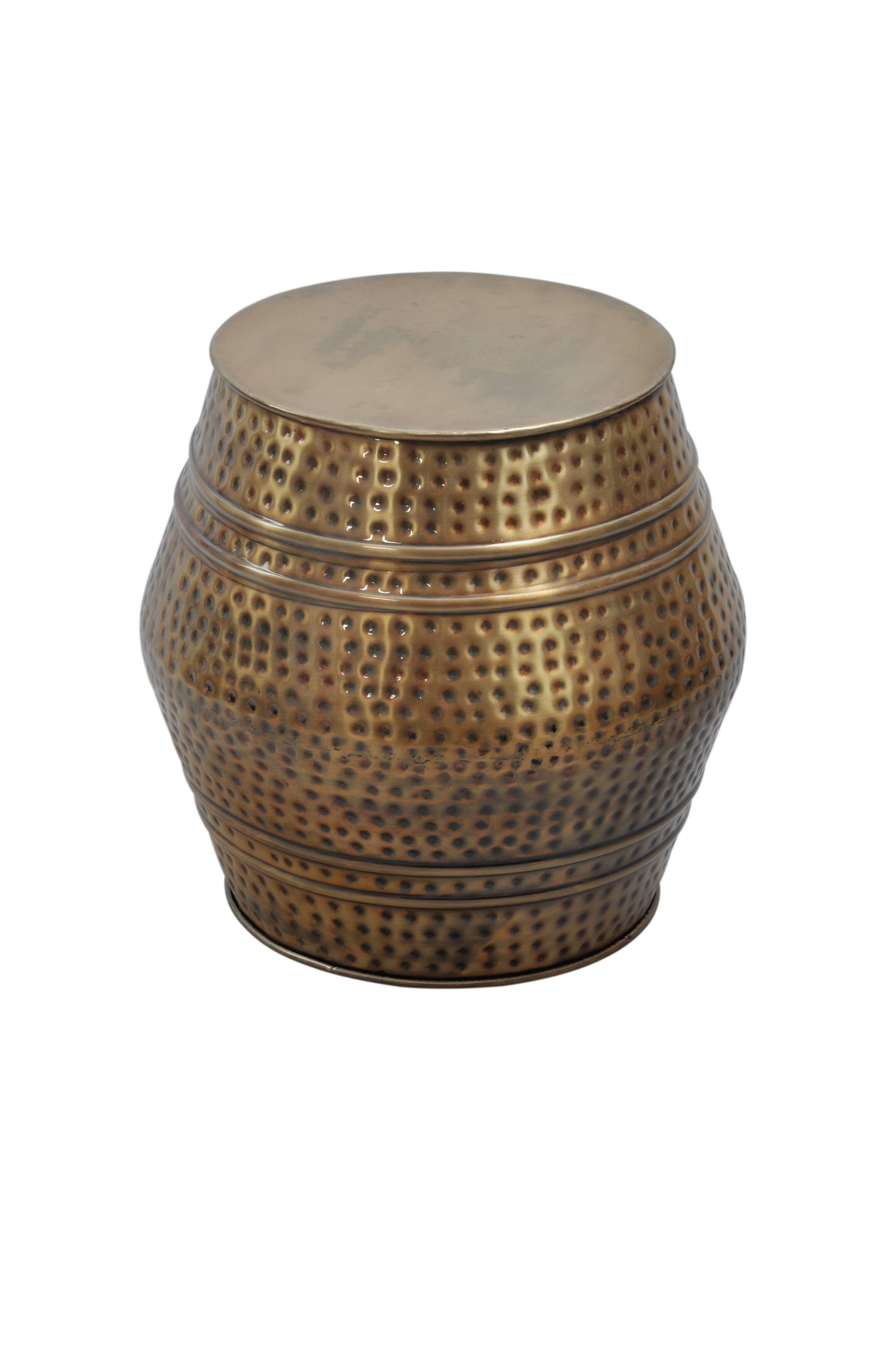 World Menagerie Mayer Moroccan Hammered Stool & Reviews | Wayfair