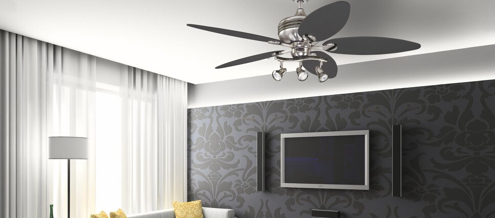Lighting youll love wayfair budget friendly ceiling fans aloadofball Image collections