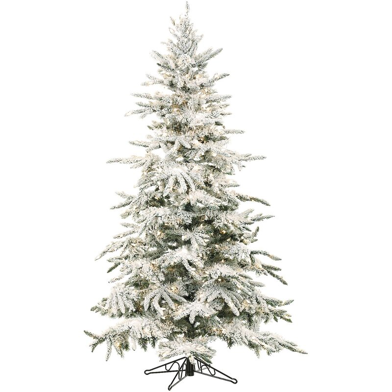 Mountain Pine 9 White Artificial Christmas Tree With 800 Led Clear String Lighting Stand
