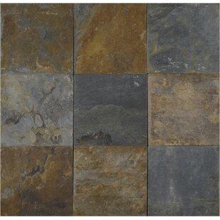 California 16 X Slate Field Tile In Multi