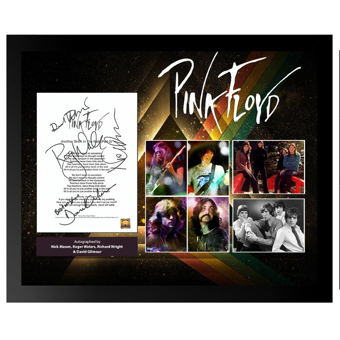 236b8427d5de LuxeWest Autographed Lyric Pink Floyd 'Comfortably Numb' Framed Memorabilia  | Wayfair