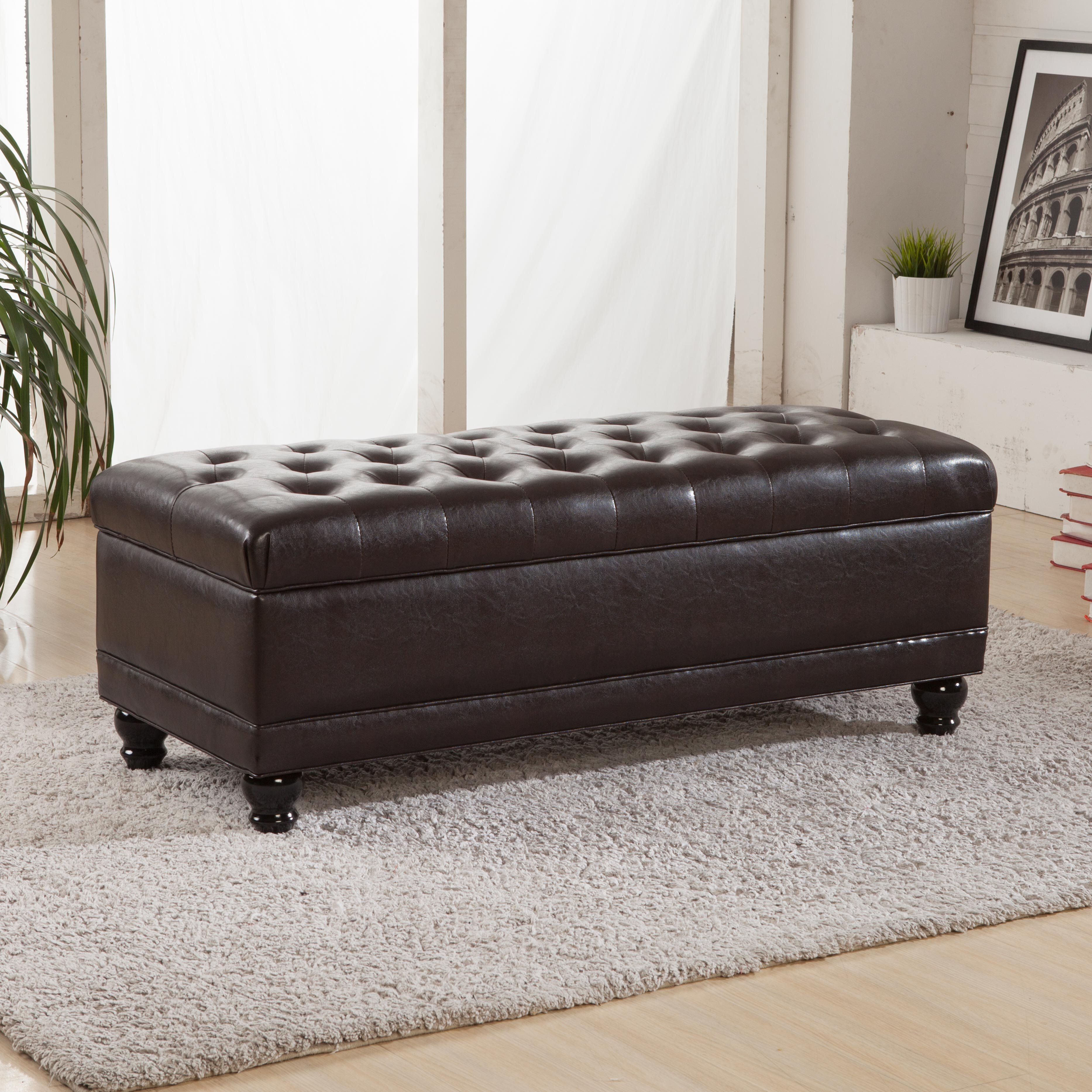 Bellasario Collection Luxury Comfort Upholstered Storage Bench & Reviews -