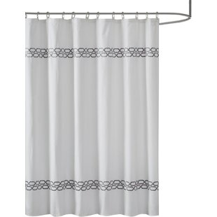 Navy And Gray Shower Curtain | Wayfair