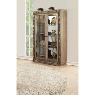 Huntington Spacious Wood and Glass Curio Cabinet