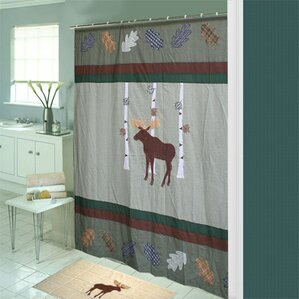 Moose Cotton Shower Curtain