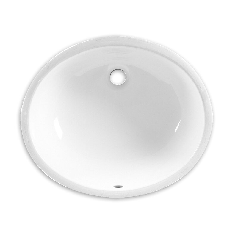American Standard Ovalyn Ceramic Oval Undermount Bathroom Sink With Overflow Reviews Wayfair