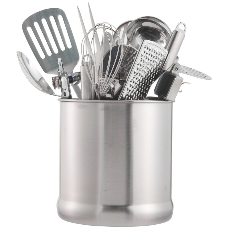 7 Stainless Steel Kitchen Utensil Holder