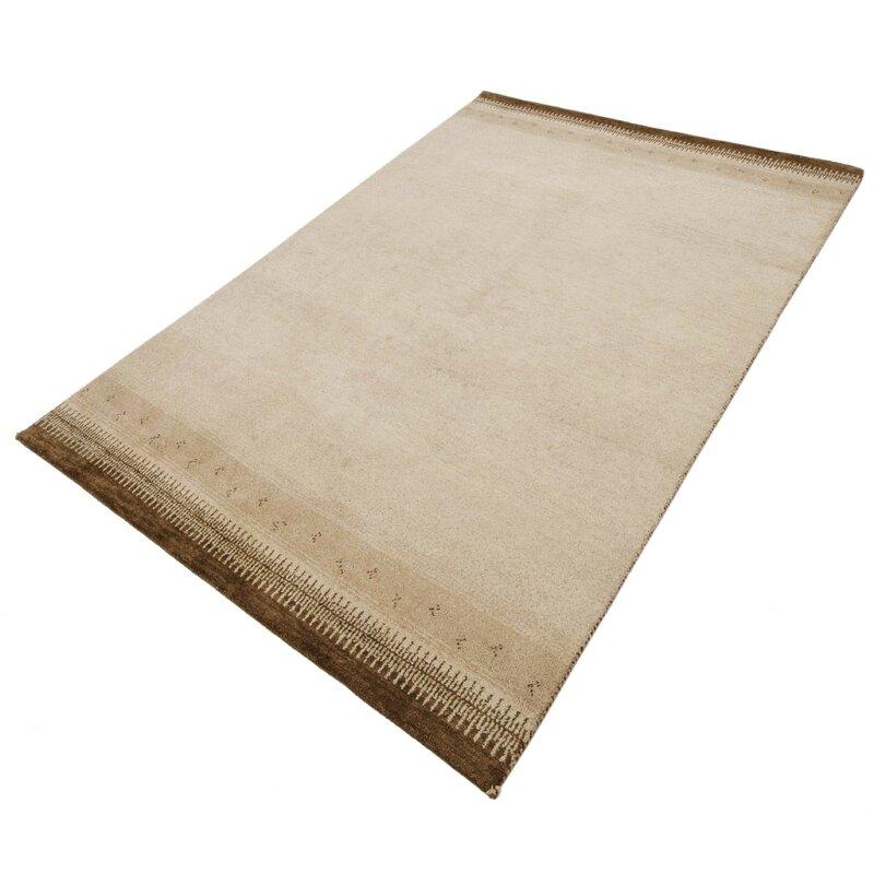 parwis handgefertigter teppich indo gabbeh chenar in braun. Black Bedroom Furniture Sets. Home Design Ideas