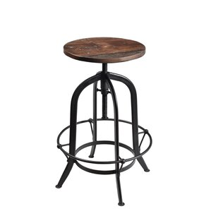 Minerva Adjustable Height Swivel Bar Stool by Gracie Oaks