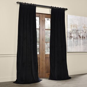 balone solid blackout thermal pinch pleat single curtain panel