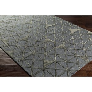 Blandon Hand-Tufted Gray/Brown Area Rug