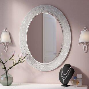 Morandiere Oval Etched Border Bathroom/Vanity Mirror