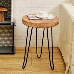 Welland LLC Round Wood End Table
