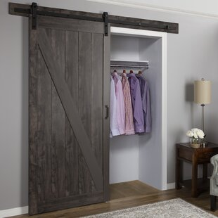 Paneled Manufactured Wood Finish Cheval Barn Door