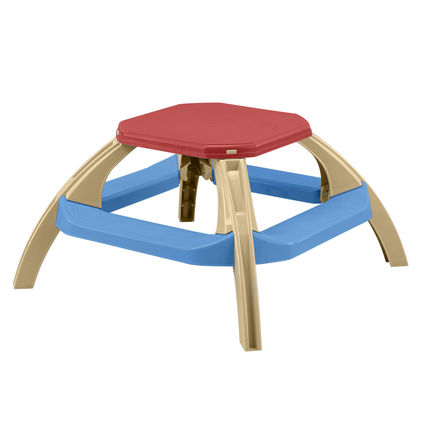 American Plastic Toys Kids Octagon Picnic Table Reviews Wayfair - Composite octagon picnic table