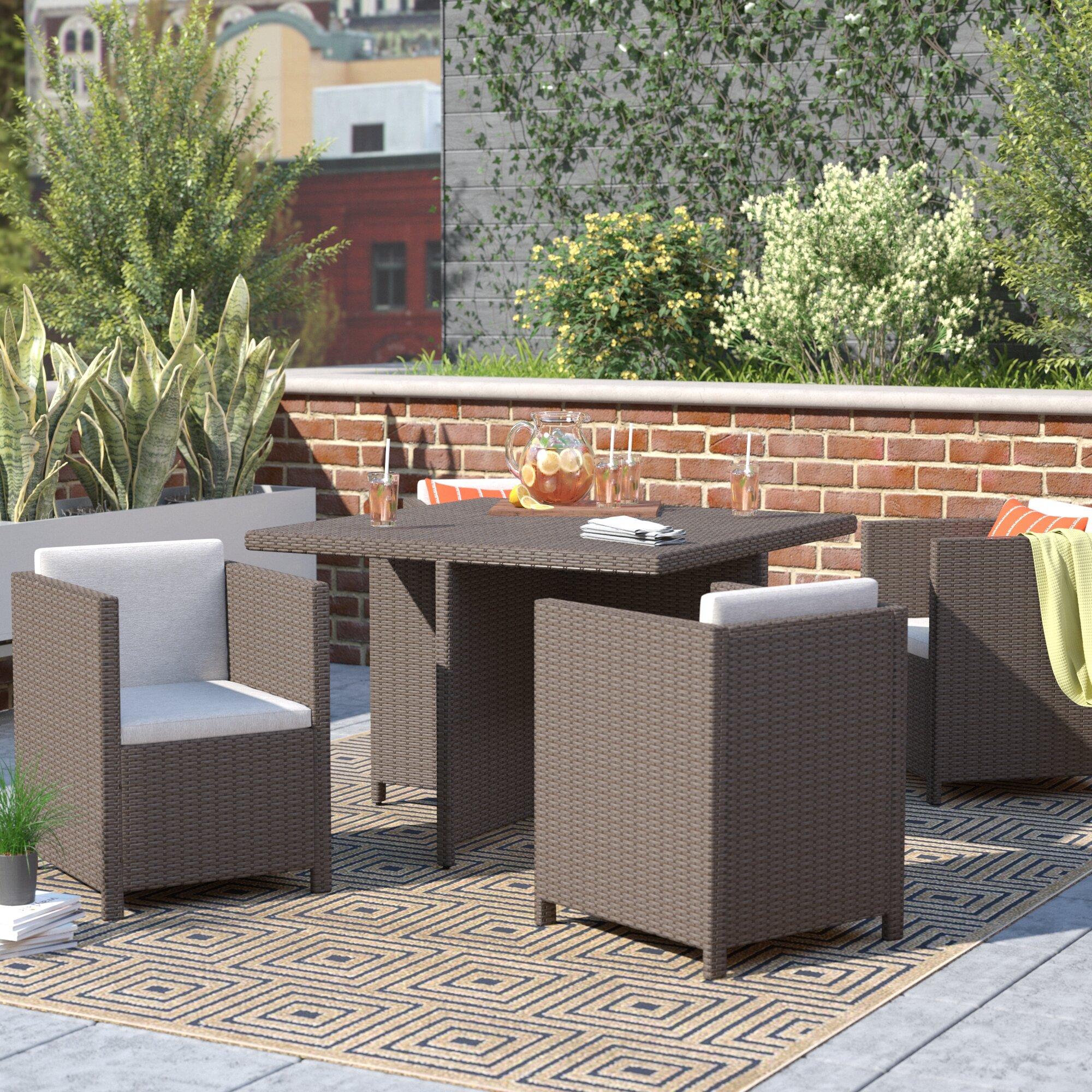 Charmant Willa Arlo Interiors Bashir Outdoor Wicker Dining Set With Cushions U0026  Reviews | Wayfair