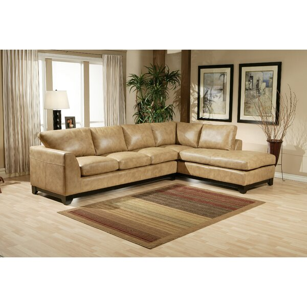 Omnia Leather City Sleek Leather Sectional | Wayfair