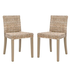 Charlotte Wicker Parsons Chair (Set of 2) by Safavieh