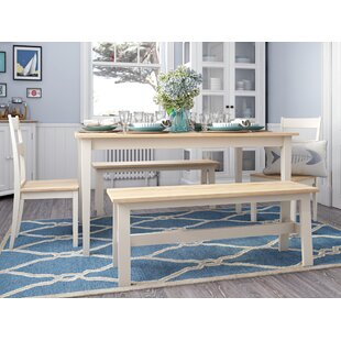 Beecher Falls Dining Set with 2 Chairs and 2 Benches by Breakwater Bay