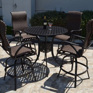 Venice 5 Piece Bar Set by K&B Patio