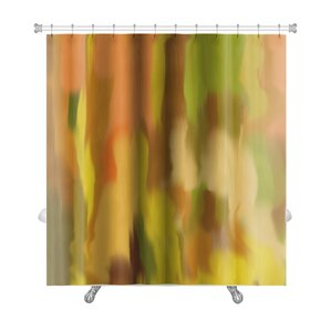 grey and orange shower curtain. Art Beta Blur Abstract Style as Early Impressionism Premium Shower Curtain Orange Curtains You ll Love  Wayfair