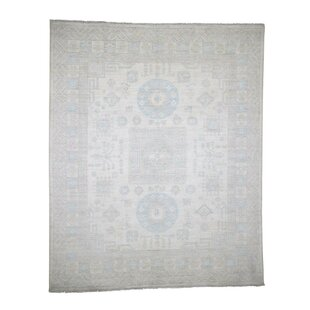 One-of-a-Kind Bagby Khotan Hand-Knotted 8'1 x 9'10 Wool Beige/White Area Rug Isabelline