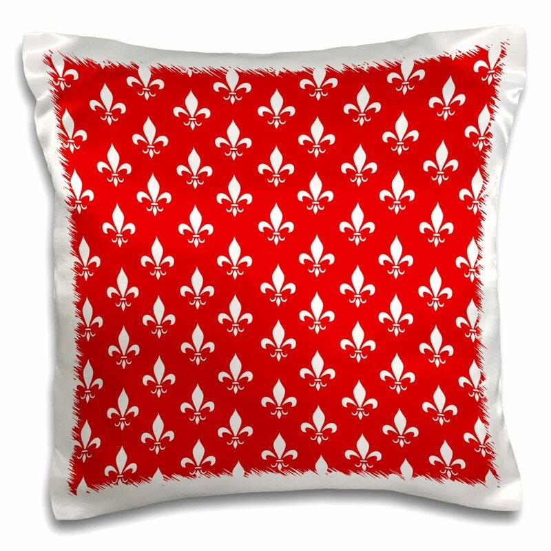 East Urban Home Fleur De Lis Pillow Cover Wayfair