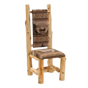 Traditional Cedar Log High Back Side Chair