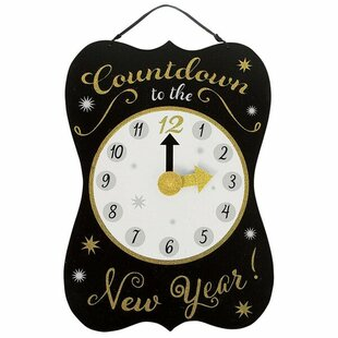 new years countdown sign wall dcor - Christmas Countdown Sign