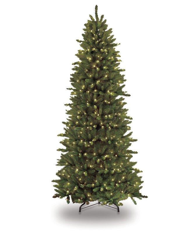 The Holiday Aisle Pre-lit Slim Fraser 9' Green Fir Artificial ...