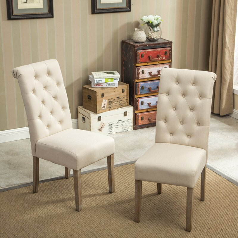 Bungalow Rose Roosa Living Room Collection Reviews: Bungalow Rose Kenleigh Solid Wood Button Tufted Side Chair