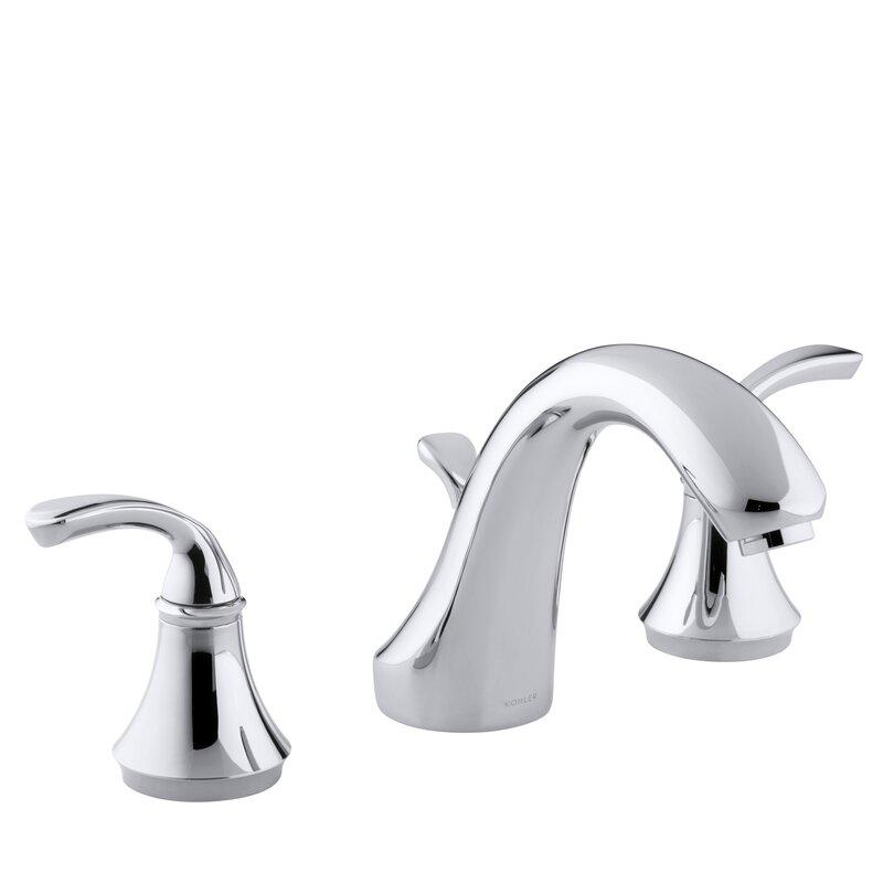 K-T10292-4-BN,CP,G Kohler Forté Sculpted Deck-Mount Bath Faucet Trim ...