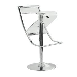 Napoli Adjustable Height Swivel Bar Stool by LeisureMod