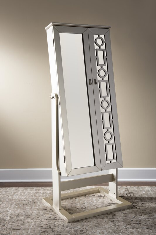 Cristobal Cheval Jewelry Armoire with Mirror Reviews Joss Main