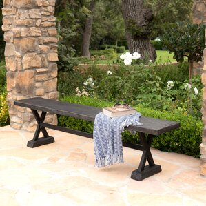 Cervantes Outdoor Bench by Gracie Oaks