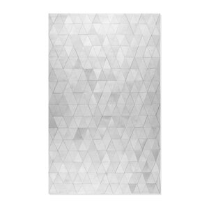 Anay Stitch Hand-Woven Cowhide Mosaik Gray Area Rug