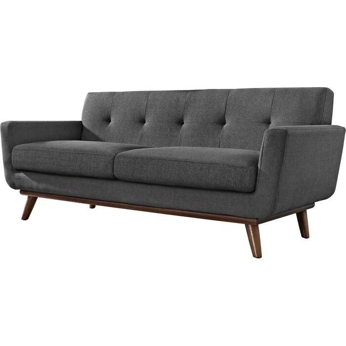 tufted pier nyle loveseat used imports putty off