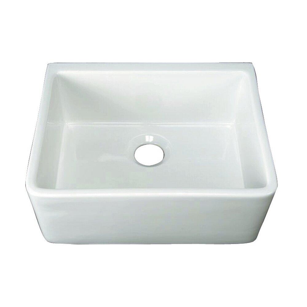 Swell Brooke 24 L X 18 W Single Bowl Farmer Kitchen Sink Interior Design Ideas Gentotryabchikinfo