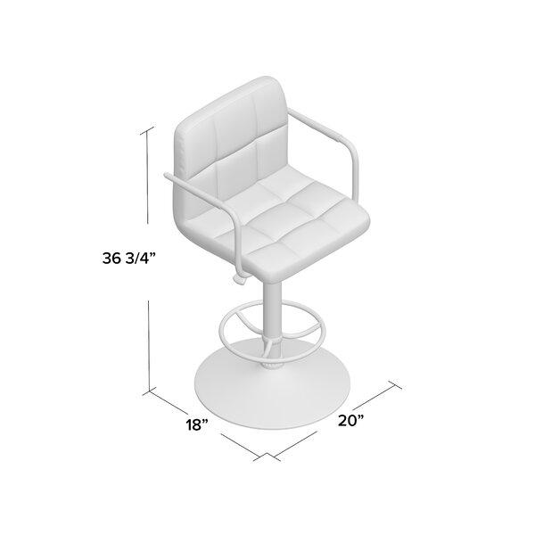 Zipcode Design Faith Adjustable Height Swivel Bar Stool