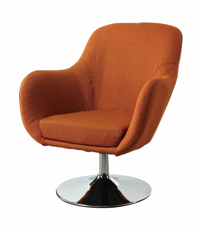 Charming Lounge Chair In Orange