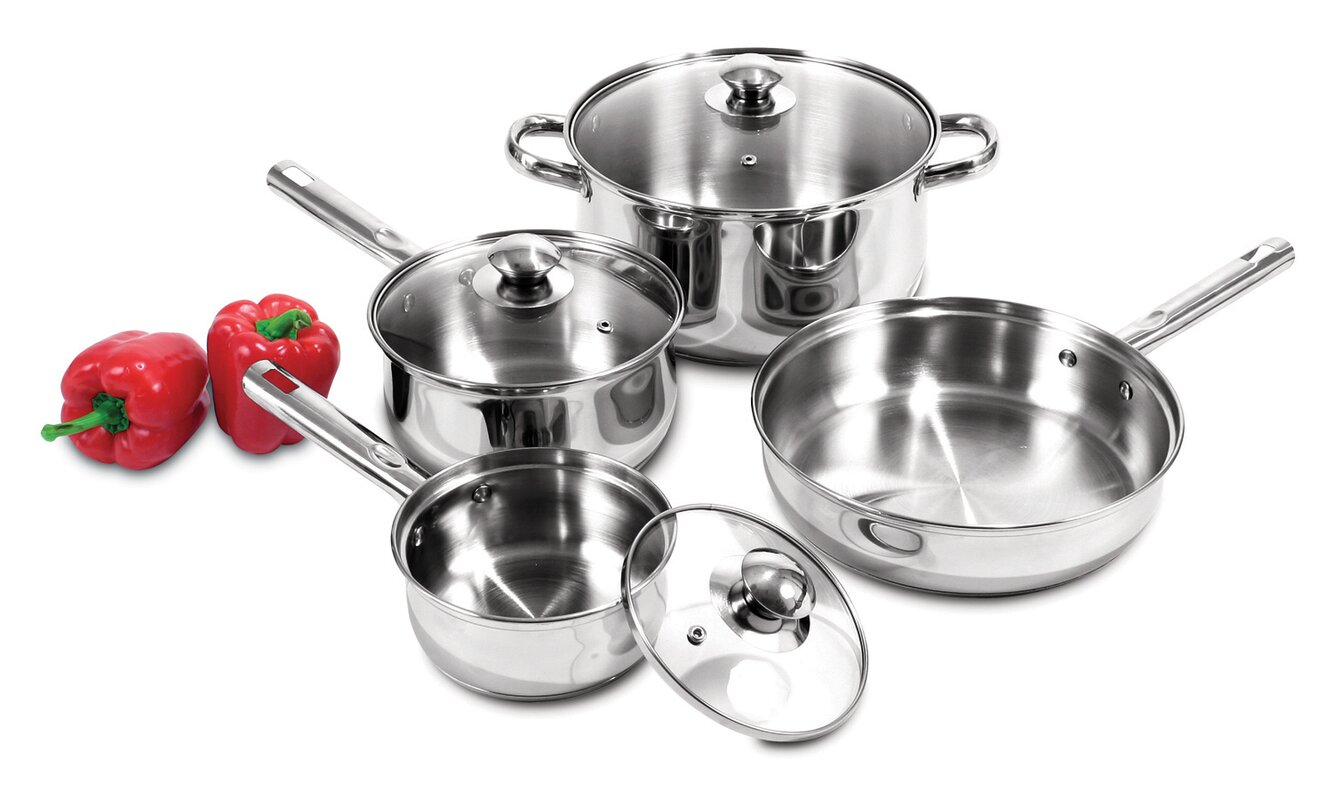 Heuck Stainless Steel 7 Piece Cookware Set & Reviews | Wayfair