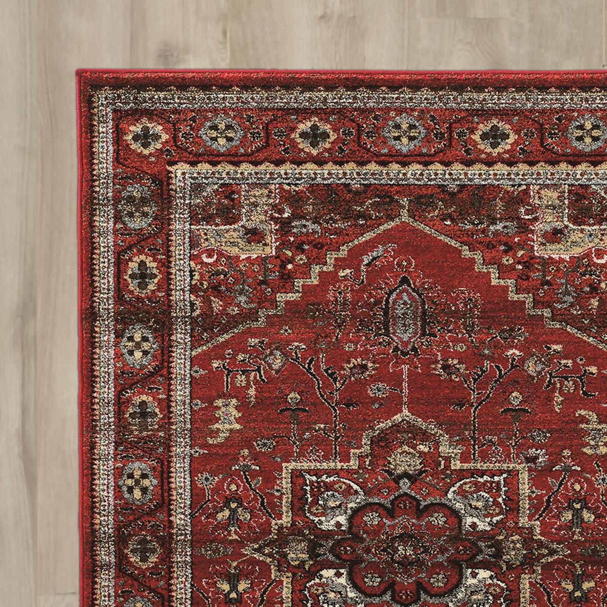 bloomsbury market shelie red gray beige area rug wayfair. Black Bedroom Furniture Sets. Home Design Ideas