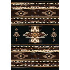 Hyacinthe Black Area Rug